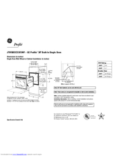 GE JT915 Dimensions And Installation Information