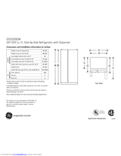 GE GSS20GEWCC Dimensions And Installation Information