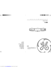 GE Spacemaker 7-5400 User Manual