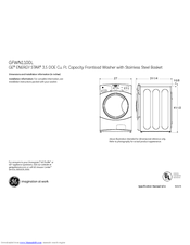 GE GFWN1100L Specification Sheet