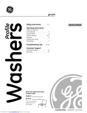 ge profile washer owner s manual pdf download rh manualslib com ge profile washer manual repair GE Profile Washer Dryer White