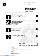 GE WISQ416C Owner's Manual