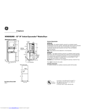 GE UNITIZED SPACEMAKER WSM2420DCC DIION MANUAL Pdf Download. on