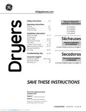 ge dcvh480ekww manuals rh manualslib com GE Dryer Replacement Parts GE Electric Dryer