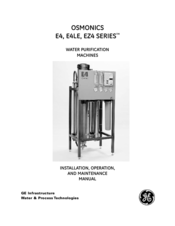 GE OSMONICS EZ4 Series Installation, Operation And Maintenance Manual