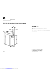 GE SmartWater GXSF18G Dimension Manual