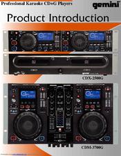 Gemini cdm-3700g manuals.