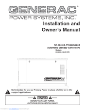 Generac Power Systems Centurion 004692-0 Installation And Owner's Manual