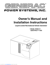 Generac Power Systems 004614-1 Installation And Owner's Manual