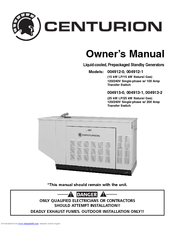 Generac Power Systems 004912-0, 004912-1, 004913-0, Owner's Manual