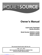 Generac Power Systems QuietSource 005031-0 Manuals