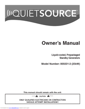 Generac Power Systems QuietSource 005031-2 Owner's Manual