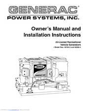 GENERAC POWER SYSTEMS 00784-2, 09290-4 OWNERS AND INSTALLATION ... on