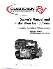 Generac Power Systems Guardian RV 00941-3 Owners And Installation Manual