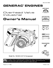 Generac Power Systems GN-190 Manuals