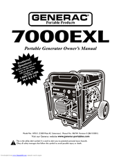 GENERAC POWER SYSTEMS 7000EXL OWNER'S MANUAL Pdf Download