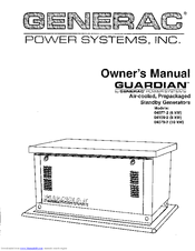 Generac Power Systems DUARDIAN 04109-2 Manuals