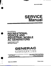Generac Power Systems 9340-0 Service Manual