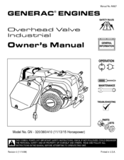 Generac Gn 480 Owners Manual