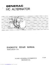 Generac Power Systems MC-38 6938 Manuals
