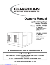 Generac Power Systems Guardian 0043734 Owner's Manual