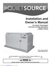 Generac Power Systems Quietsource 004916-0 Owner's Manual