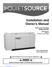 Generac Power Systems Quietsource 004917-2 Owner's Manual
