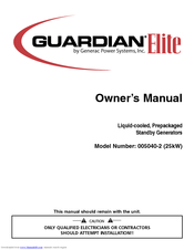 Generac Power Systems 005040-2 Owner's Manual