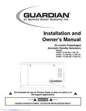 generac power systems guardian 04390 1 manuals rh manualslib com Generac Manual Transfer Switch Generac Diagnostic Manuals