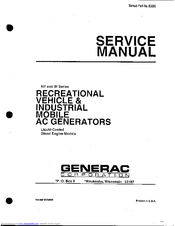 GENERAC POWER SYSTEMS 53187 SERVICE MANUAL Pdf Download