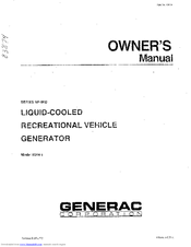 GENERAC POWER SYSTEMS 9344-1 OWNER'S MANUAL Pdf Download