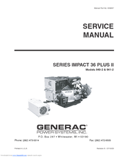 GENERAC POWER SYSTEMS 941-2 SERVICE MANUAL Pdf Download