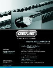 Genie 2022 Manuals