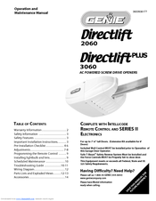 Genie Directlift 3060 Manuals Manualslib