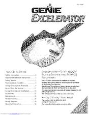 genie excelerator isd1000 series manuals rh manualslib com Genie Garage Door Owner's Manual Genie Excelerator Motor