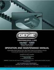 Genie Intellig 1200 4024 Manuals