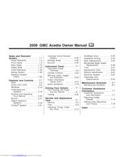 gmc acadia 15919282 owner s manual pdf download rh manualslib com 2009 Acadia Interior 2009 gmc acadia owner's manual pdf