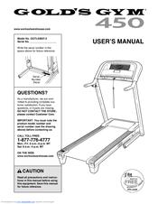 Gold's gym ggtl03607. 3: 450 treadmill user's manual.