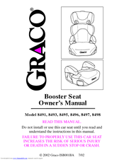 Graco 8493 Owner's Manual