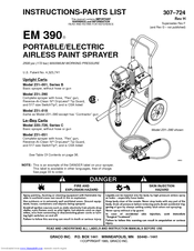 Graco 390 stand parts breakdown, 248800.