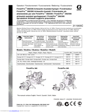 Graco FinishPro 395 Important Safety Instructions Manual