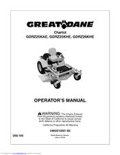 Great Dane Chariot Gdrz25khe Manuals