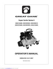 62436_super_surfer_series_ii_gskh2352s_product great dane super surfer series ii gskh2352s operator's manual pdf
