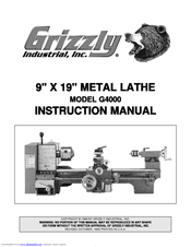 Grizzly G4000 Instruction Manual