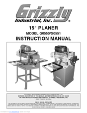 Grizzly G0550 Instruction Manual