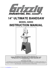 Grizzly G0555 Instruction Manual