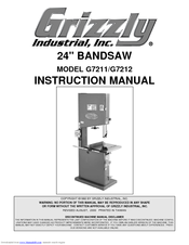 Grizzly G7212 Manuals