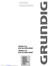 Grundig vision 2 22-2830 t dvd crt television user manual.