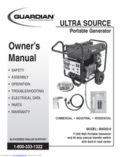 GENERAC POWER SYSTEMS GUARDIAN ULTRA SOURCE 004583-0 OWNER'S MANUAL on generac portable generator wiring diagram can, generac rv remote start wire numbers, generac engine parts, generac rts transfer switch wiring diagram,