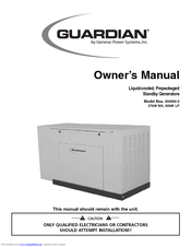 Generac Power Systems Guardian 004992-2 Owner's Manual
